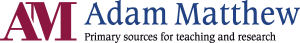 "Adam Matthew ""Primary sources for teaching and research"" logo"